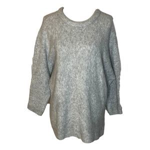 Chelsea 28 Gray Batwing Sweater Large